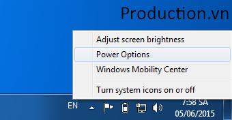 Gập laptop nhưng máy vẫn hoạt động
