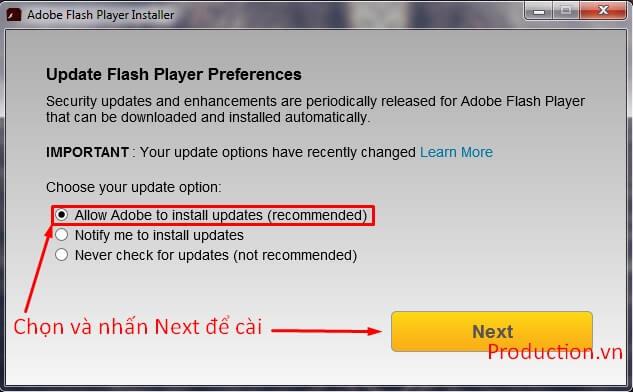 Adobe Flash Player - Phần mềm hỗ trợ xem phim trực tuyến