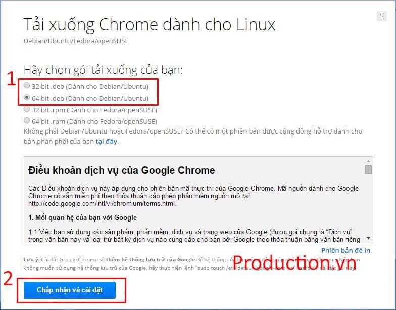 Hướng dẫn cài đặt Google Chrome cho Ubuntu - Site của tui