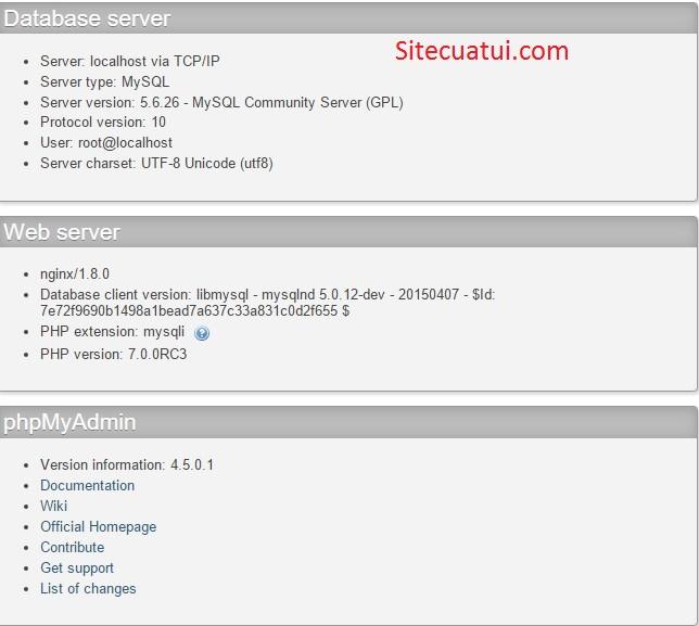 Cách cài đặt phpMyAdmin trên Ubuntu, CentOS và Windows