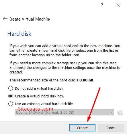 Thiết lập dung lượng ổ đĩa cho máy ảo