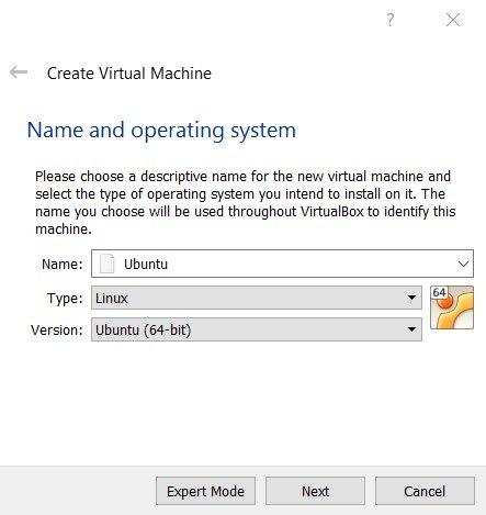 Tạo máy ảo Ubuntu trên VirtualBox