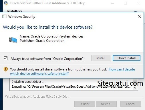 Always trust software from Oracle Corporation