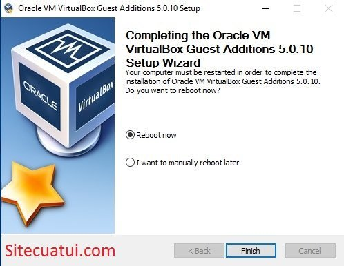 Cài đặt VirtualBox Guest Additions cho máy ảo Windows