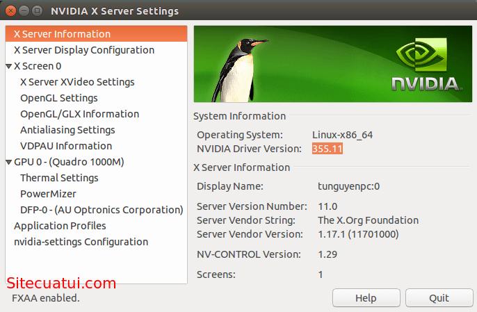 Cài đặt driver NVIDIA cho Ubuntu