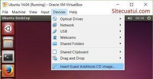 Cài đặt Guest Additions VirtualBox