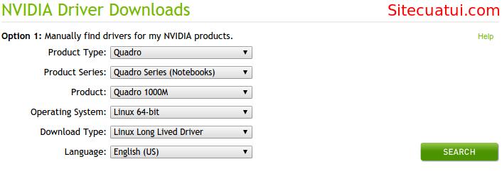Download driver NVIDIA cho Ubuntu