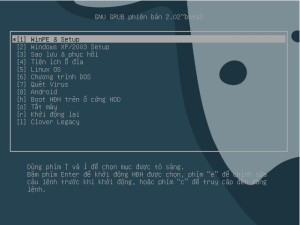 Menu Grub2 của AIO Boot v0.9