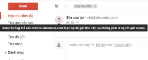 Gmail không thể xác minh