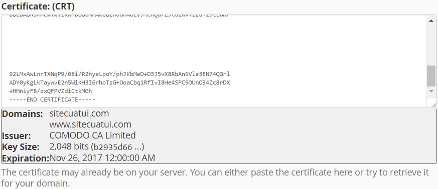 Cài đặt SSL cho cPanel