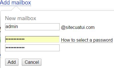 tạo email với tên miền riêng miễn phí