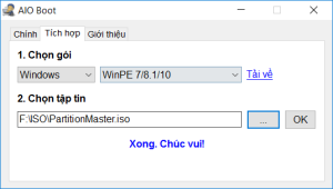 Tích hợp WinPE cho AIO Boot