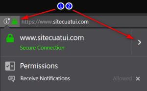 Kết nối an toàn trên Firefox