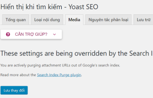 Yoast SEO: Search Index Purge