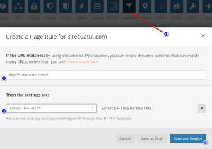 Chuyển hướng HTTP sang HTTPS trên Cloudflare
