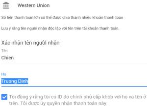 Cách rút tiền bằng Western Union từ Google Adsense