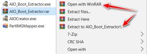 Cách mở file RAR trên Win 10